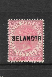 SELANGOR  1883-85  2c   QV    MH     SG 21