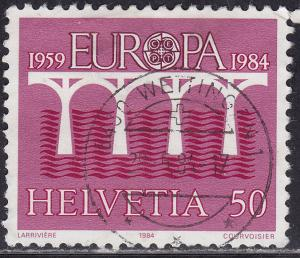 Switzerland 747 USED 1984 Europa CEPT 50c CDS