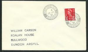 GB SCOTLAND 1971 cover PORT CHARLOTTE / ISLE OF ISLAY cds..................66632