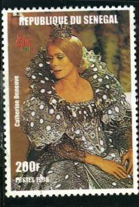 Senegal 1998 CATHERINE DENEUVE DONKEY SKIN 1 value Perforated Mint (NH)