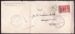 Canada #10073 - 2c Tercentenary to Lanigan , Sask and returned-Humboldt