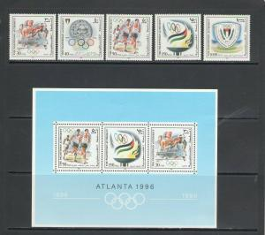 PALESTINE AUTHORITY: Sc. 49-53,52a / **ATLANTA OLYMPICS **/ Set & SS / MNH