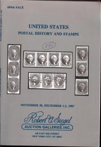 Siegel: Sale # 686  -  United States Postal History and S...