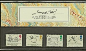 1988 EDWARD LEAR,VERSE FOR CHILDREN PRESENTATION PACK 193