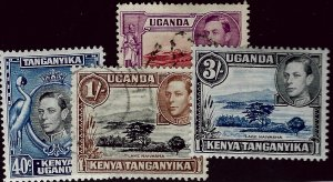 Kenya Uganda & Tanzania 78 & 82 Mint, 80 & 81 Used F-VF Value $29.50...Awesome!