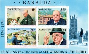 Barbuda 1974 Sir Winston Churchill SS MNH Sc# 195a