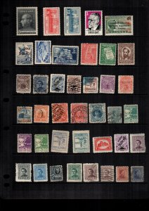 Uruguay  MH  and used lot of 38