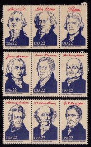 US Sc 2216 MNH 3 Strips/Ameripex 1986 Issue Block Seperated In Three Pieces