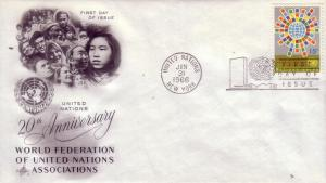 United Nations FDC Sc.# 155 20th Anny. of the UN  L306