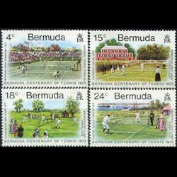 BERMUDA 1973 - Scott# 304-7 Tennis Cent. Set of 4 NH