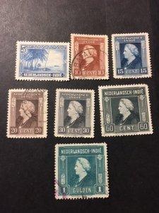 Netherlands Indies 253,255,256,258-261 uhr