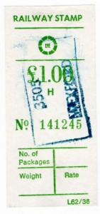 (I.B) Ireland Railways : Córas Iompair Éireann - Parcel £1 (Wexford)