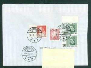 Greenland. Cover 1976. Egedesminde. Scott # 49+56+ 87. Adr: Sweden