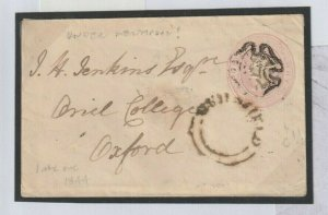 GB Wales MALTESE CROSS Montgomery Guilsfield 1d Pink Postal Stationery 1844 X95a