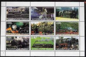 Turkmenistan (Dashkhovuz Velayat) 1999 ? Steam Locos perf...