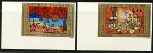 FRENCH POLYNESIA Sc#C122-C126 1975 Paintings Complete Imperforate Mint NH