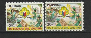 Philippines MNH 146-6 40th Anniversary Girl Scouts