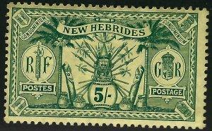 British New Hebrides Sc#25 Unused F-VF SCV$40...Colonies are Hot!