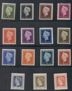 NETHERLANDS #286-300, Complete set, og, NH, NVPH $250