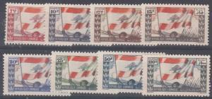 Lebanon Scott 181-8 Mint hinged (Catalog Value $60.00)