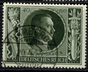 GERMANY 1943 54th BIRTHDAY & CULTURE FUND USED (VFU) SG 837 P.14 XF/SUPERB