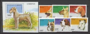 Benin 741-47 MNH Dogs SCV6.90