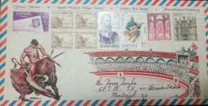 O) 1974 SPAIN, MOSQUE CORDOBA-DUQUE FABRIQUE DE TOLEDO -SPANISH WORLD - HISPANID