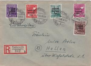 Germany Soviet Zone 1948 Finsterwalde to Hollen  stamps cover  R20717