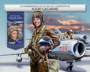 TOGO- 2018 - Yuri Gagarin - Perf Souv Sheet - MNH