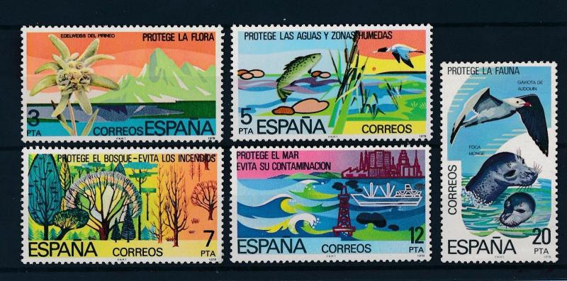 [46892] Spain 1978  Flora Fauna Fish Seal Birds MNH
