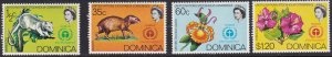 Dominica 1972 Scott # 337-340a Protected Species MNH