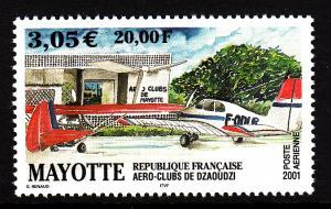Mayotte MNH Scott #C5 20fr Dzaoudzi Aero Clubs