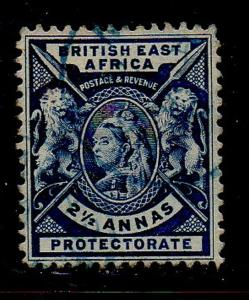 British East Africa Sc 76 1896 2 1/2a blue Victoria stamp used