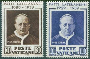 VATICAN Scott 254-5 MNH** 1959 Lateran Pacts set