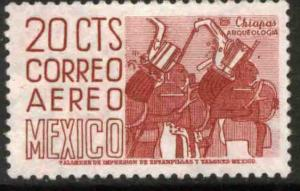 MEXICO C285, 20c 1950 Def 5th Issue Fluorescent uncoated. MINT, NH. F-VF.