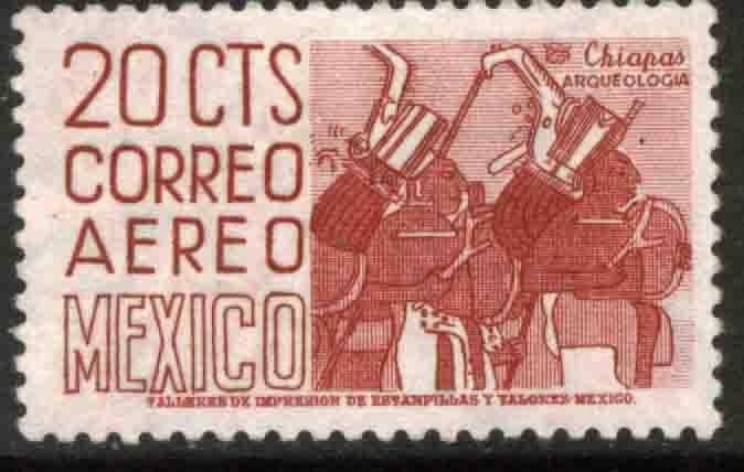 MEXICO C285, 20¢ 1950 Def 5th Issue Fluorescent uncoated. MINT, NH. F-VF.