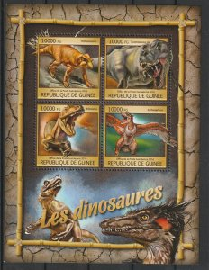 Guinea MNH S/S Dinosaurs 2016