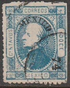 MEXICO 100, 12¢ 1-74. USED, VF. (1217)