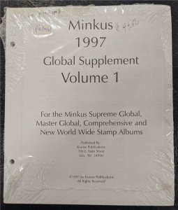 1997 Volume 1 Minkus Global Supplement Stamp Worldwide Album pages New & Sealed