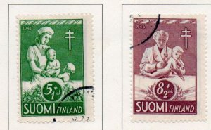 Finland Sc B78-79 1946 TB Child Care charity stamp set used