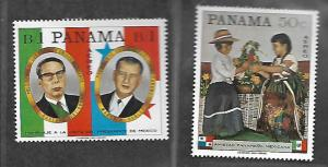 PANAMA C361-C362 MNH PANAMA & MEXICO FRIENDSHIP