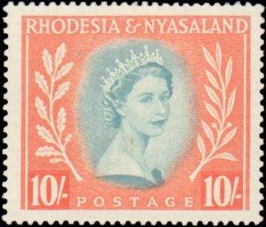 Rhodesia & Nyasaland #154, Incomplete Set, 1954-1956, Never Hinged