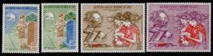 Laos 244-5, C114-5 MNH UPU, Boy mailing Letter, Stamp on Stamp
