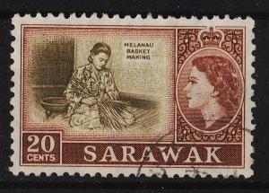 Sarawak 1955/1957 Various Designs 20c (1/15) USED
