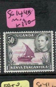 KENYA, UGANDA, TANGANYIKA  (PP1505B) KGVI  50C BOAT     SG 144B   MOG