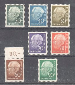 Germany #712-718 set Mint OG NH