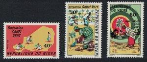 Niger Planting in Sahara Operation Sahel Vert 3v SG#643-645