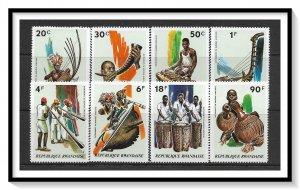 Rwanda #515-522 Musical Instruments Set MNH