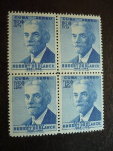 Stamps - Cuba - Scott# C148 - Mint Hinged Airmail Stamps in a Block of 4