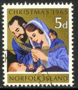 NORFOLK ISLAND 1965 CHRISTMAS Issue Sc 70 VFU